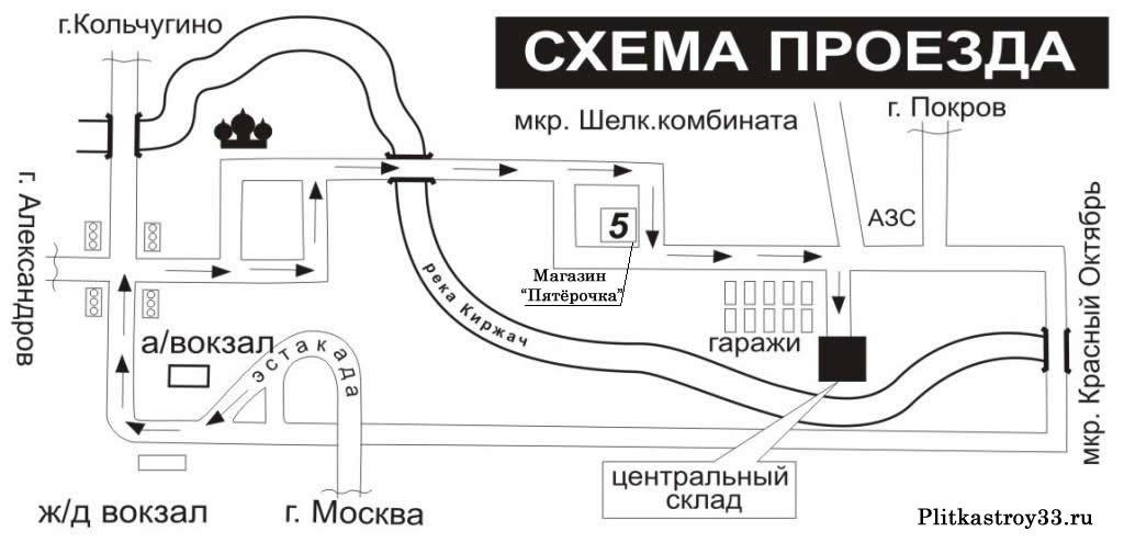 Схема проезда до завода беко в киржаче